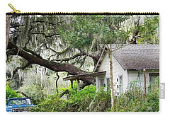 Blue Truck And Moss Carry-all Pouch by Patricia Greer
