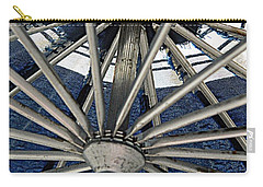 Blue Umbrella Underpinnings Carry-all Pouch by Kathy Barney