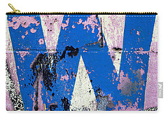 Blue W Carry-all Pouch by Ethna Gillespie