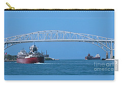 Blue Water Bridge And Freighters Carry-all Pouch