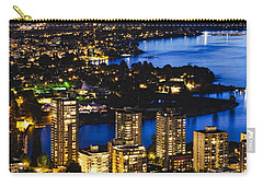 Carry-all Pouch featuring the photograph Blue Water Kitsilano Beach Mcdix by Amyn Nasser