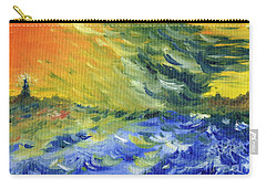 Blue Waves Carry-all Pouch by Teresa White