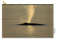 Carry-all Pouch featuring the photograph Blue Whale At Sunset In Monterey Bay California  2013 by California Views Mr Pat Hathaway Archives
