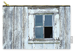 Blue Window In Weathered Wall Carry-all Pouch