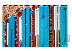 Blue Windows Carry-all Pouch by Carolyn Marshall