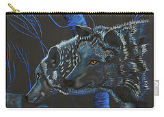 Blue Wolves Carry-all Pouch