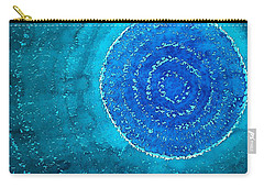 Blue World Original Painting Carry-all Pouch by Sol Luckman