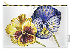 Blue Yellow Pansies Carry-all Pouch