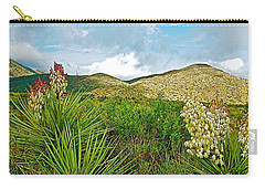 Blue Yucca And Chisos Mountains In Big Bend National Park-texas Carry-all Pouch