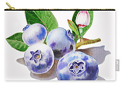 Artz Vitamins The Blueberries Carry-all Pouch by Irina Sztukowski