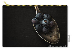 Blueberries On Silver Spoon Carry-all Pouch