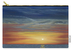 Blueberry Beach Sunset Carry-all Pouch