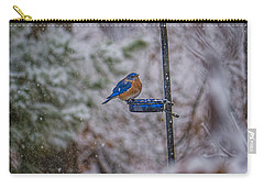 Bluebird In Snow Carry-all Pouch
