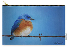 Bluebird On A Wire Carry-all Pouch