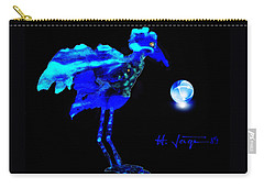Carry-all Pouch featuring the painting Bluebird Watching by Hartmut Jager