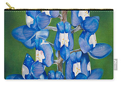 Bluebonnet Buffalo Clover Carry-all Pouch