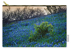 Grapevine Lake Bluebonnets Carry-all Pouch by Inge Johnsson