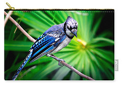Thoughtful Bluejay Carry-all Pouch