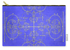 Blueprint Maltese Cross Carry-all Pouch by Suzanne Powers