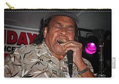 Carry-all Pouch featuring the photograph Bluesman James Cotton by Mike Martin