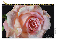 Carry-all Pouch featuring the photograph Blushing Pink Rose by Jeannie Rhode