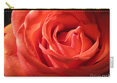 Blushing Orange Rose 1 Carry-all Pouch