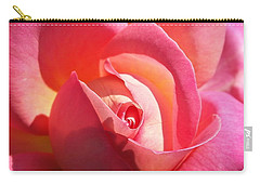 Blushing Rose Carry-all Pouch by Michele Myers