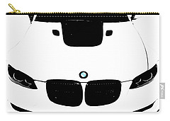 Bmw White Carry-all Pouch by J Anthony