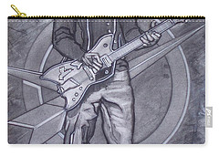 Bo Diddley - Have Guitar Will Travel Carry-all Pouch by Sean Connolly