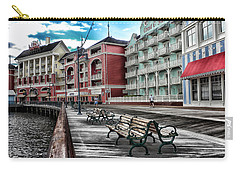Boardwalk Early Morning Carry-all Pouch by Thomas Woolworth