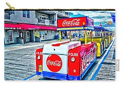 Boardwalk Tram  Carry-all Pouch by Nick Zelinsky