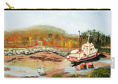 Boat At Bic Quebec Carry-all Pouch