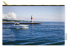 Boat At Holland Pier Carry-all Pouch by Lars Lentz