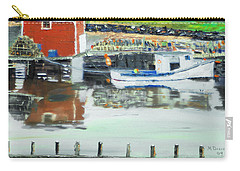Boat At Louisburg Ns Carry-all Pouch