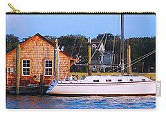Boat At Shem Creek By Jan Marvin Carry-all Pouch