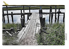 Boat Dock With Gulls Carry-all Pouch by Patricia Greer