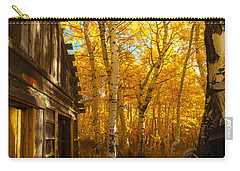 Boat House Among The Autumn Leaves  Carry-all Pouch