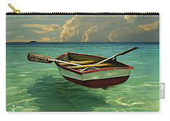 Boat In Clear Water Carry-all Pouch