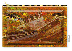 Carry-all Pouch featuring the photograph Boat On Board by Larry Bishop