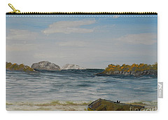 Boat On The Beach Carry-all Pouch
