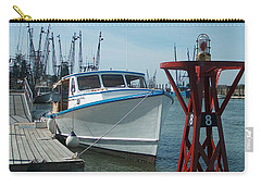 Boat With Light Buoy By Jan Marvin Carry-all Pouch