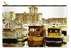 Carry-all Pouch featuring the photograph Boathouses by Eti Reid