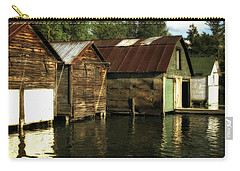 Boathouses On The River Carry-all Pouch by Michelle Calkins