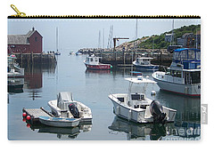 Carry-all Pouch featuring the photograph Boats On The Water by Eunice Miller