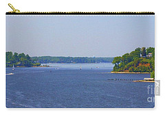 Boating On The Severn River Carry-all Pouch