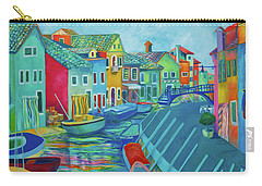 Boats At Burano Carry-all Pouch