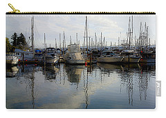 Carry-all Pouch featuring the photograph Boats At Marina On Liberty Bay by Greg Reed