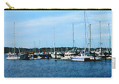 Carry-all Pouch featuring the photograph Boats At Newport Ri by Susan Savad