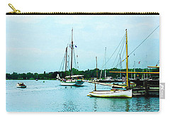 Carry-all Pouch featuring the photograph Boats On A Calm Sea by Susan Savad
