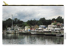 Carry-all Pouch featuring the photograph Boats On A Cloudy Day Essex Ct by Susan Savad